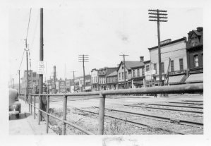 In 1941 there were 56 business establishments below the tracks in Duquesne. Photo Courtesy of J. Semago.