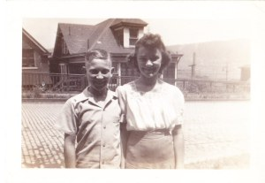 "My dad, John ""Salty"" Salopek and his sister Sylvia at 220 North First Street, Duquesne in the mid 1940's. Photo courtesy of John A. Salopek."