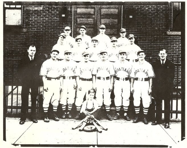 The Duquesne Croatians ball club circa 1940. Photo Courtesy of Mary Beth