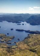 Alaskan view form float plane