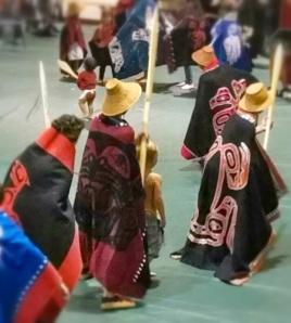 Haida Performers at Hydaburg, Prince of Wales Island, Alaska