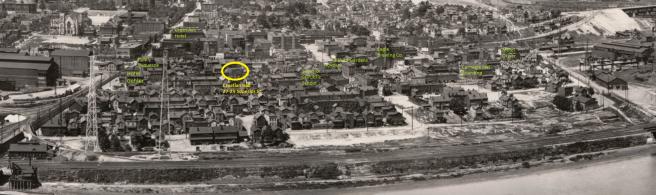 View of Duquesne's Below the Tracks Neighborhood in 1938. Courtesy of John Berta via the Duquesne Hunky, Jim Volk.