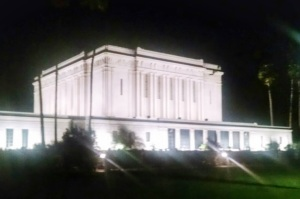 Mesa LDS Temple where I saw the shooting star!  © 2015