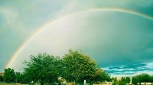 Rainbow Over Tolleson, Arizona January 13, 2015.  © 2015 Patricia J. Angus