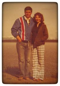 Doug & Patti Yellowstone Park, 1978
