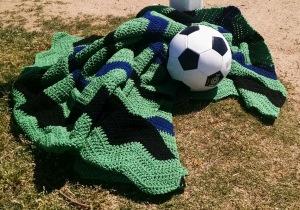 Soccer Blanket (c) 2015 Patricia J. Angus