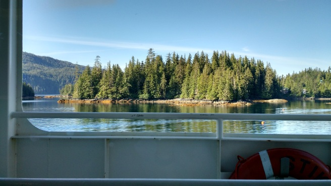 My view from the ferry ride -- successfully complete and without injury!  (c) Patricia J. Angus